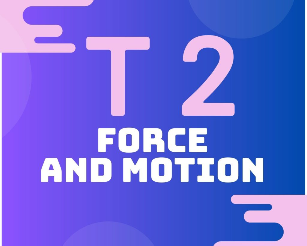 Topic 2 Force and motion